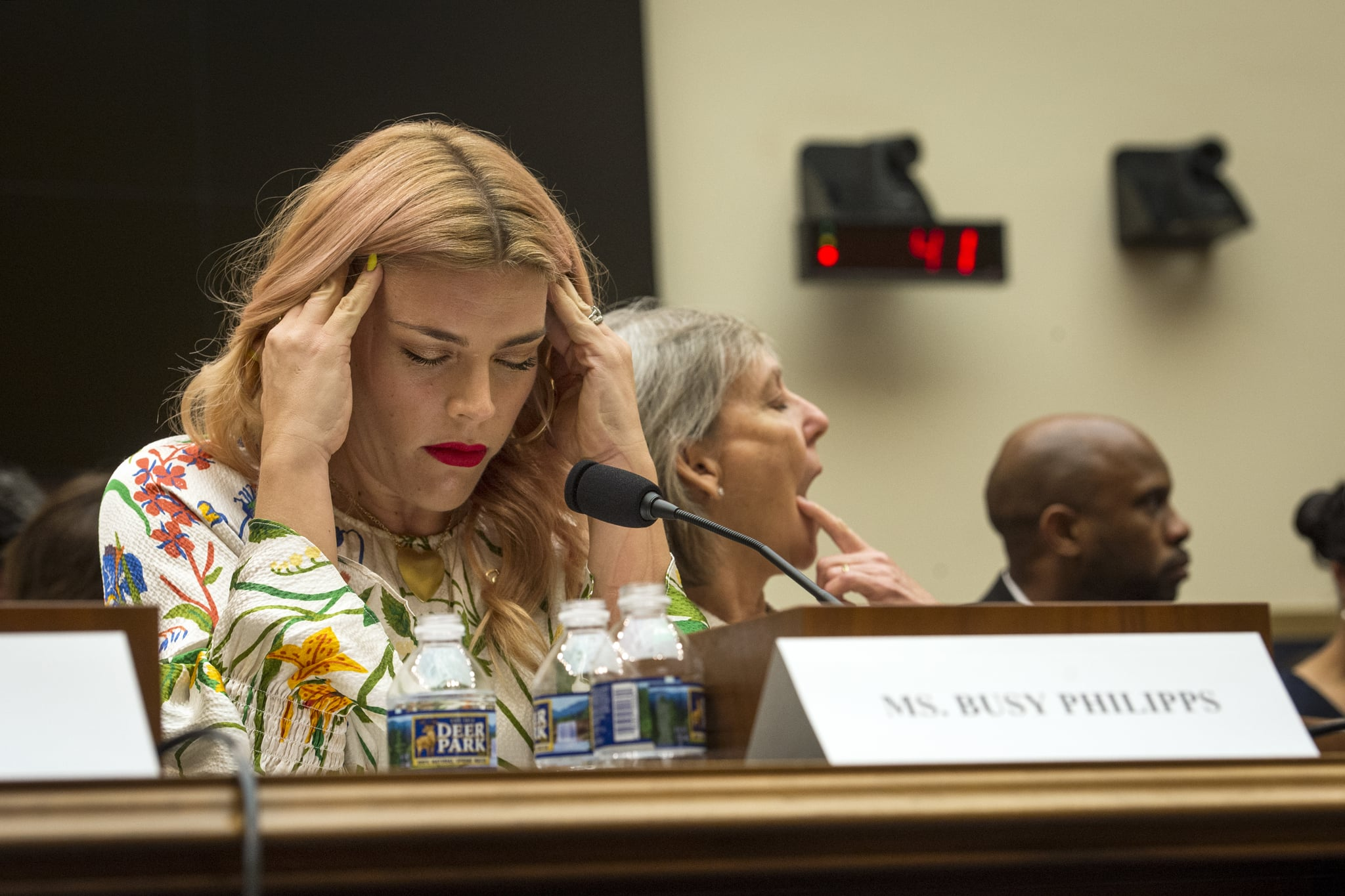 UNITED STATES - JUNE 4: Actress Busy Philipps prepares to testify at the House Judiciary Subcommittee on Constitution, Civil Rights and Civil Liberties hearing titled