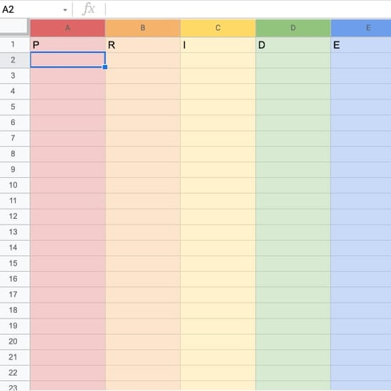 Here's How to Make Google Sheets Rainbow For Pride