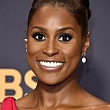 Issa Rae Wearing Red Vera Wang Dress at 2017 Emmys