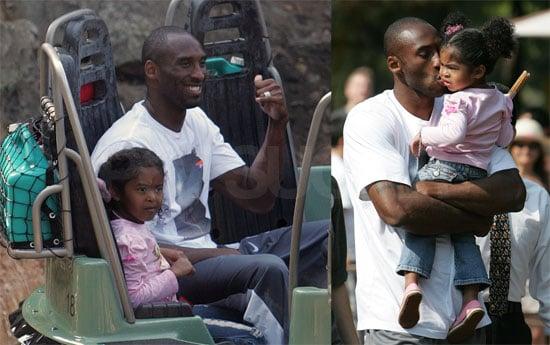 Photos of Kobe Bryant in Disneyland
