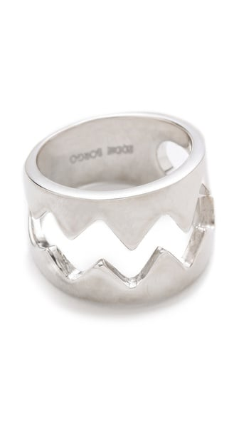 I love playful jewelry, and although this Eddie Borgo bear trap ring ($225) — with its jagged edges but almost liquid finish — means business, it's sure to be a crowd-pleaser. — KS