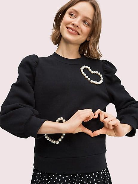 Pearl Pavé Heart Sweatshirt