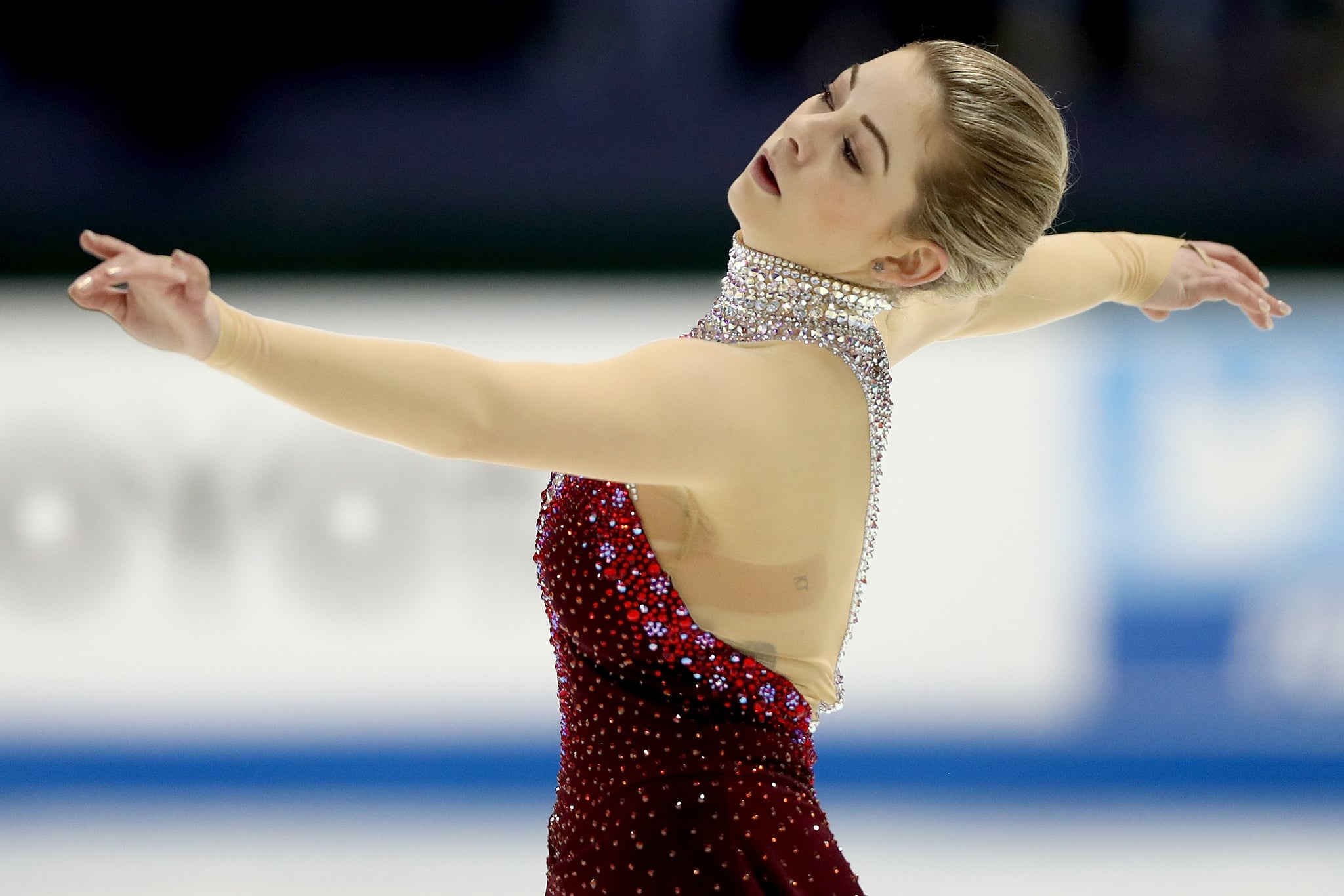 GREENSBORO, NORTH CAROLINA - JANUARY 24: Gracie Gold skates in the Ladies Free Skate during the 2020 U.S. Figure Skating Championships at Greensboro Coliseum on January 24, 2020 in Greensboro, North Carolina. (Photo by Matthew Stockman/Getty Images)