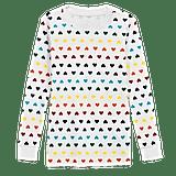 Primary Long-Sleeve Rainbow Heart PJ Top ($16)