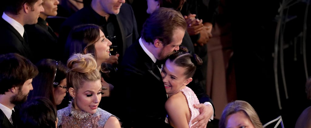 Millie Bobby Brown and David Harbour at the 2018 SAG Awards