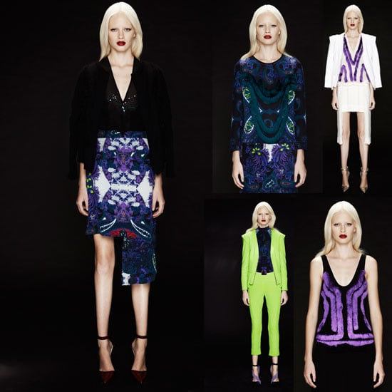 Scope Magdalena Velevska's Autumn Winter 2012 Look Book: Fringing, Fluoro, Suiting and Paisely Abound!