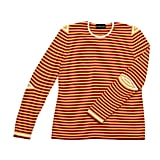 The thin red and gold stripes on Slater Zorn's long-sleeved sweater ($248) just so happen to be spot-on 49ers shades.