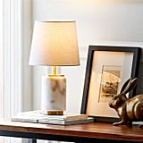 Rivet Mid Century Modern Marble Table Decor Lamp