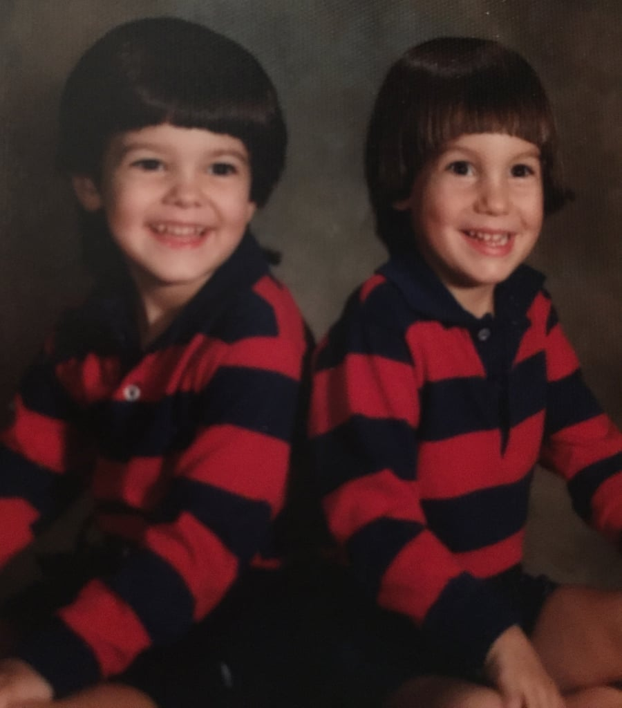 My brother and I often wore matching outfits.