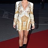 Kim dazzled in a sexy golden minidress at the 2012 Cannes Film Festival that showed off all of her best assets.