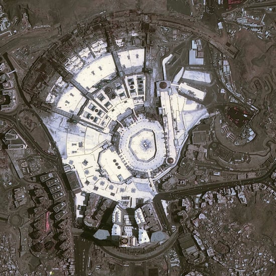 Great Mosque of Mecca Image Captured Via Satellite
