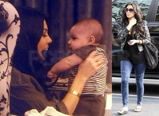 Photos of Kim Kardashian, Kourtney Kardashian and Baby Mason Dash Disick Filming Kourtney and Khloe Take Miami
