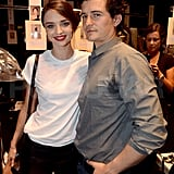 Orlando Bloom supports Miranda Kerr.