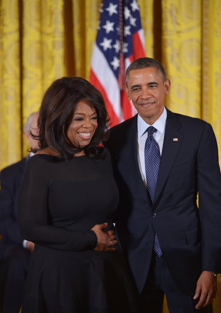 President Obama presented a Medal of Honor to Oprah Winfrey for her work in journalism and activism.