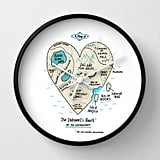 The Introvert's Heart Wall Clock ($30)