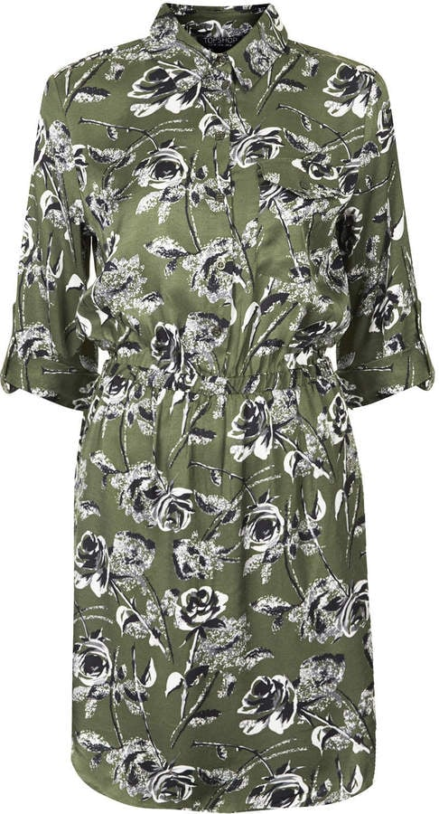 Topshop Floral Print Shirt Dress
