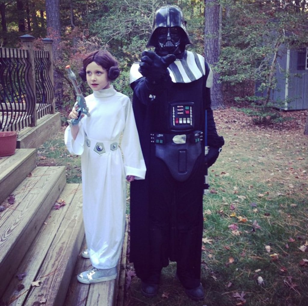Princess Leia and Darth Vader