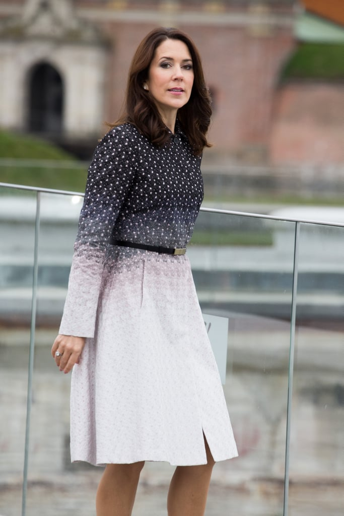 Princess Mary's Patterned Coat April 2016