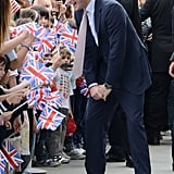 Prince Harry greeted children and signed autographs at the Maxxi Museum in Rome on Sunday.