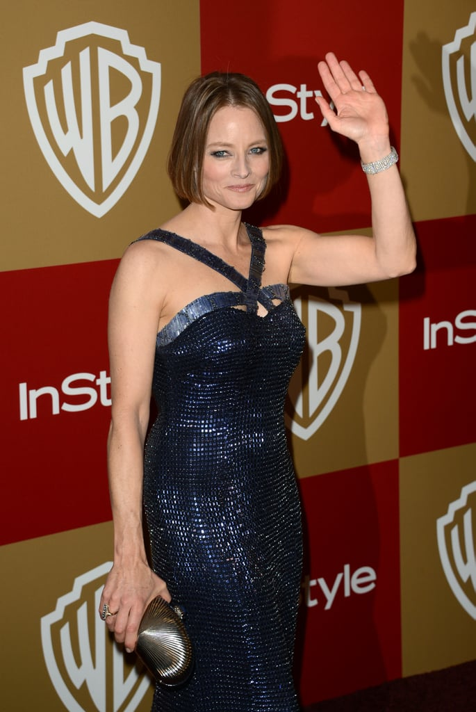 Jodie Foster gave a wave.