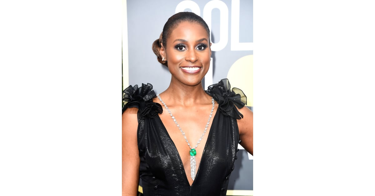 Issa Rae Celebrity Hair And Makeup At The 2018 Golden