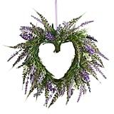 Faux Lavender Heart Mini Wreath