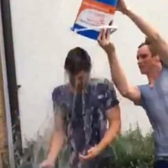 Jamie Dornan and Eddie Redmayne Team Up For the Hottest Ice Bucket Challenge Yet