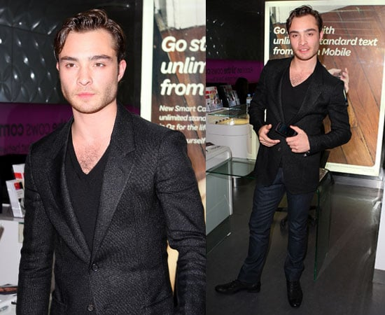 Pictures of Ed Westwick in Australia