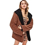 BeautyGal Women's Reversible Open Front Coat