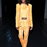Afiya Bennett at the Sally LaPointe Fall 2020 Show