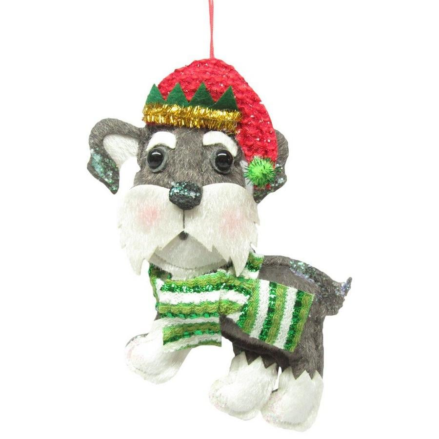 Brighten the Season Schnauzer Ornament