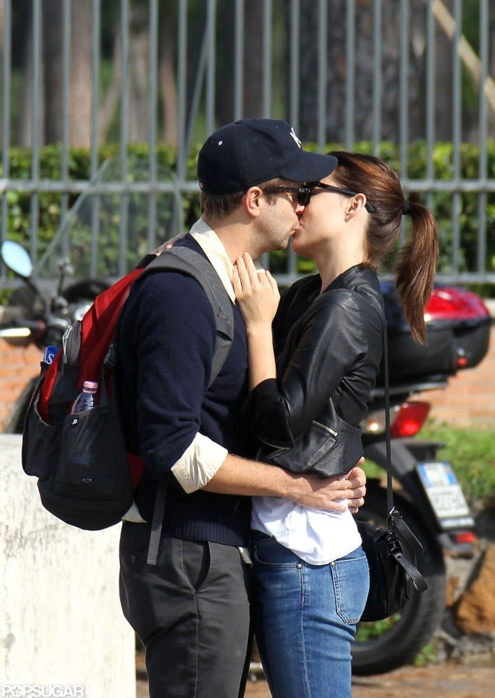 Newly engaged Olivia Wilde and Jason Sudeikis could hardly keep their hands off each other while sightseeing in Rome in October 2012.
