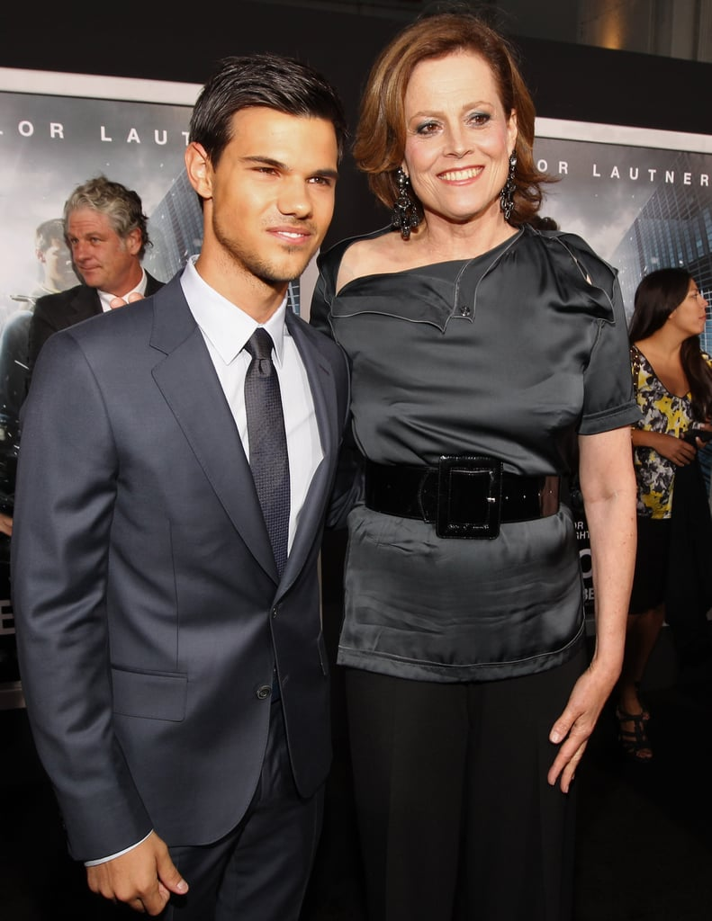 Sigourney Weaver and Taylor Lautner posed together at the premiere.
