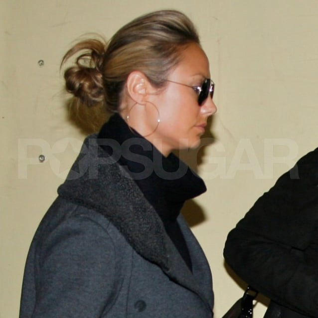 Stacy Keibler took off from LAX.