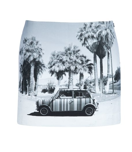 How cute is this vintage-inspired photo-print miniskirt? We'd pair it with oxfords and a white tee for a cute and easy weekend ensemble.  Paul Smith Printed Short Skirt ($209)