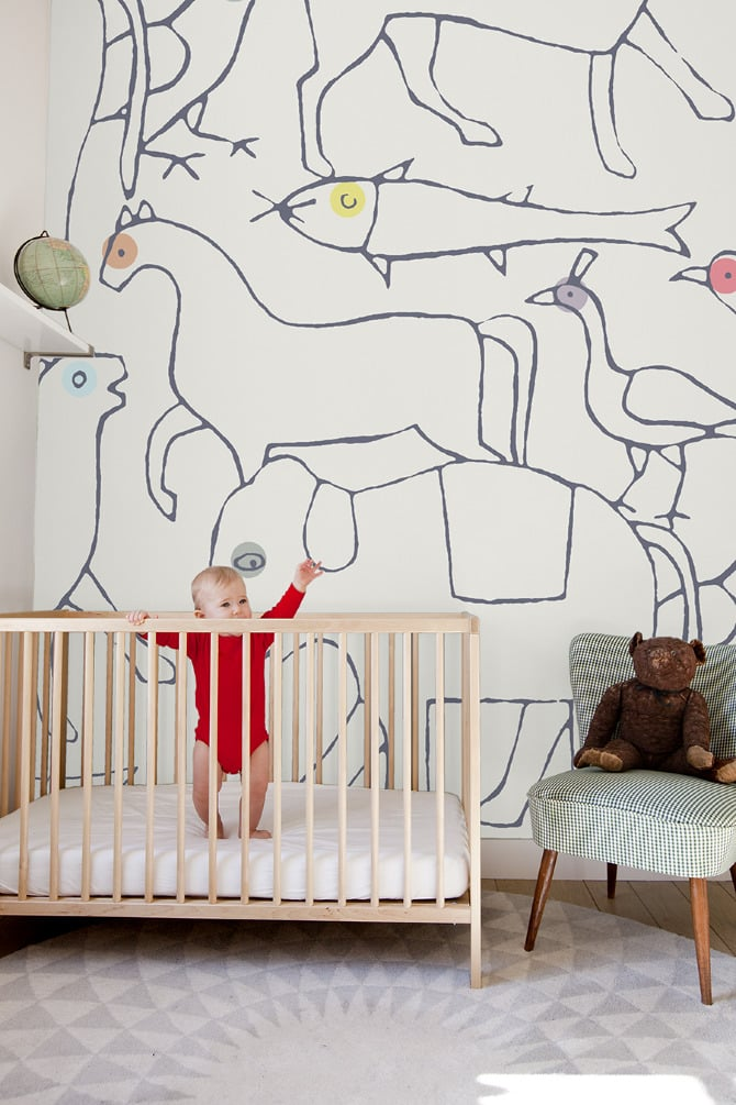 For the Nursery Walls: Minakani Animal Wallpaper