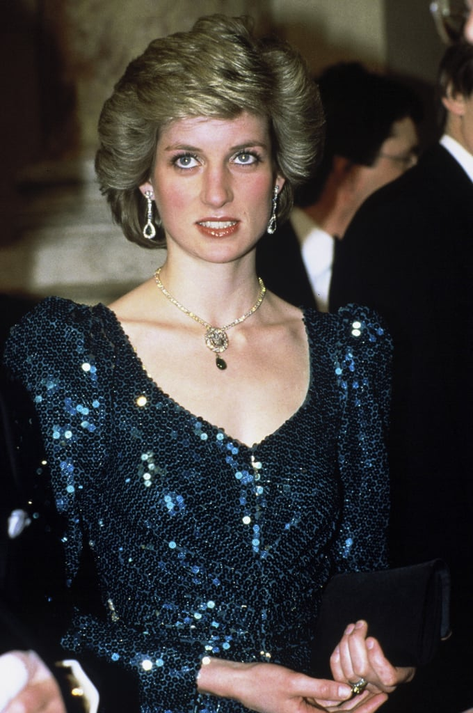 Interest in Princess Diana's life — and wardrobe — has hardly cooled in the nearly two decades since her death. Case in point: a green, sequined Catherine Walker dress that the Princess first wore during a 1986 visit to Austria is expected to fetch over $100,000 at an upcoming auction in the United Kingdom. The Telegraph featured a handful of pieces going under the hammer at Kerry Taylor Auctions in two weeks, including the green gown. Estimates for the piece's final sale price range from the very low $115 to a high of $144,000.  Catherine Walker, whose designs were a great favorite of Diana's, created the piece for the Princess to wear thirty years ago. According to the auction house, the dress has a unique provenance. It was part of a large order Diana placed in preparation for the Austria trip. Diana, trusting Catherine's good taste, didn't ask to see sketches; she trusted the designer would create beautiful pieces. And Catherine delivered. For the evening in Vienna, Diana wore the dress with a diamond choker which had been given to her as a wedding gift by Charles's grandmother, Queen Elizabeth the Queen Mother. It would be the first of four times she wore the gown publicly. In 1987, she'd wear it to a charity performance of High Society and again in 1988 for the premiere of Biggles. In 1989, it was brought out a fourth time for a ball at Osterley House.  Though Catherine has passed away, her company lives on; in fact, Kate Middleton is now a fan of the label and recent wore a green coat-dress to an engagement in London.