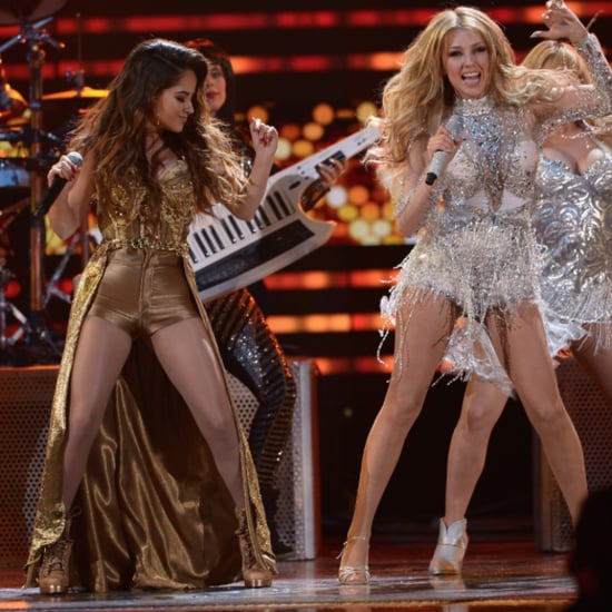 Thalia and Becky G Performing at Premio Lo Nuestro 2015