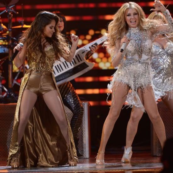 Thalia and Becky G Performing at Premio Lo Nuestro 2015