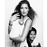 """Doutzen Kroes said she was """"so grateful"""" for her two little loves."""