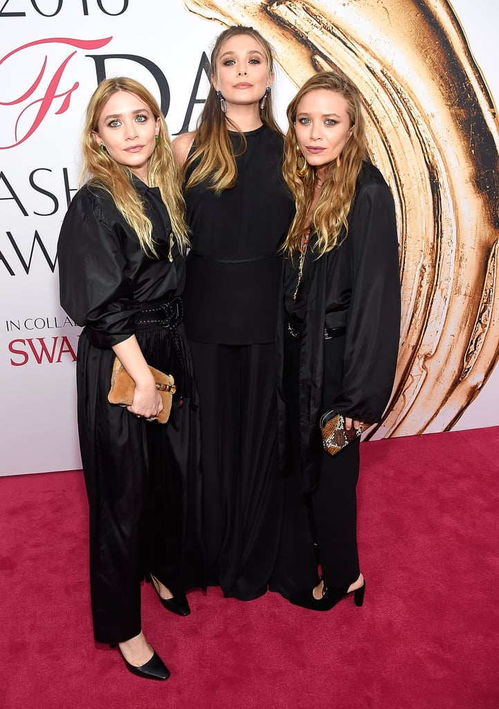 "Ashley, Mary-Kate, and Elizabeth Olsen all attended the CFDA Fashion Awards in NYC on Monday night. The sisters, who rarely make public appearances together, struck a handful of gorgeous poses on the red carpet before making their way inside, where Ashley and Mary-Kate are being honoured for the fifth time for their fashion label, The Row. Over the weekend, Elizabeth couldn't help but praise her older sisters, telling People, ""They're nominated for two CFDA awards this year for accessory and for designer this year and so it's really exciting.""  Elizabeth is currently working on her new film, Wind River, alongside Jeremy Renner, while it's only been a few months since Mary-Kate tied the knot with Olivier Sarkozy. Check out even more stunning arrivals from the night."