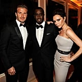 David Beckham, Sean Combs, and Victoria Beckham