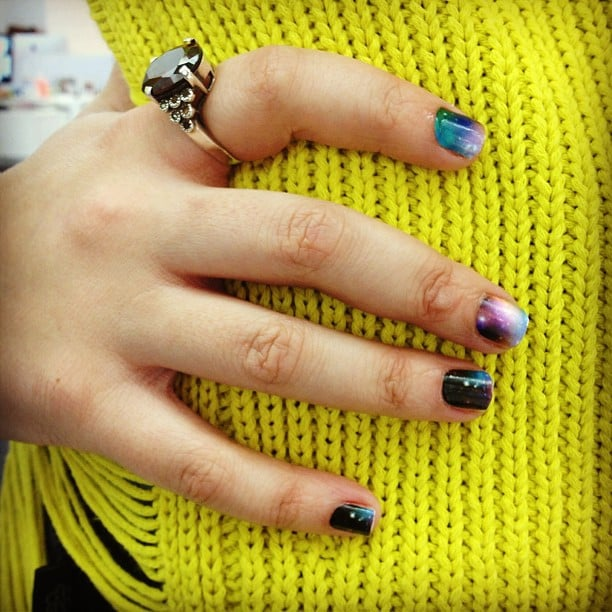 Editor Maria Del Russo's Fashion Week manicure, care of NCLA nail wraps.