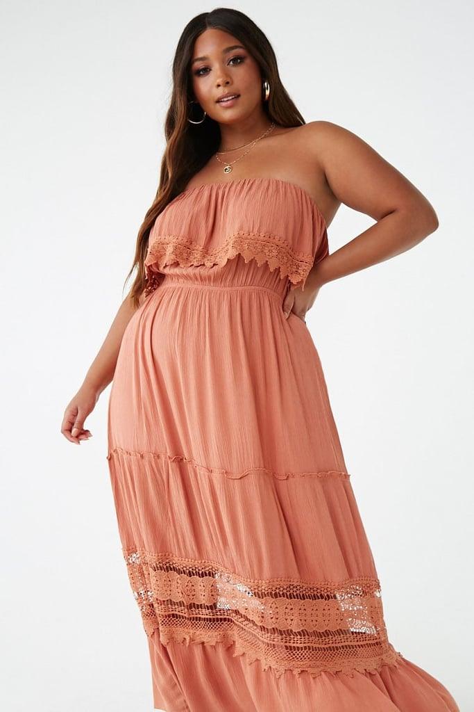 Plus Size Strapless Crochet Trim Dress Best Summer Dresses From