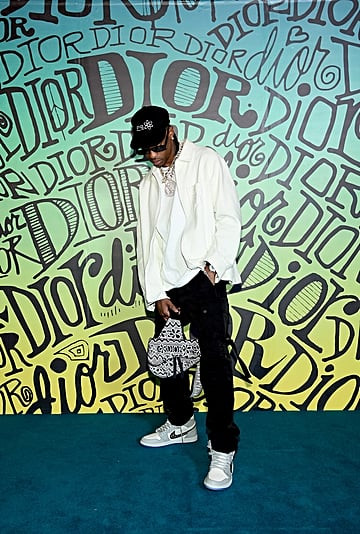 Travis Scott Showed Off a Pair of Dior x Jordan Sneakers
