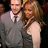 Justin Timberlake and Mary J. Blige practically matched outfits at the Grammy Awards nominations in 2008.