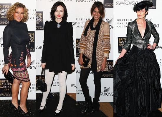 Photos Of Alexa Chung, Erin O'Connor, Jourdan Dunn, Anastacia, Sophie Ellis-Bextor At The British Fashion Awards 2008