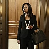 Sorry, Olivia Pope doesn't do basic. We're digging this cool jacket design — it's so interesting!