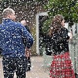 Kate Middleton and Prince William Snowball Fight 2018