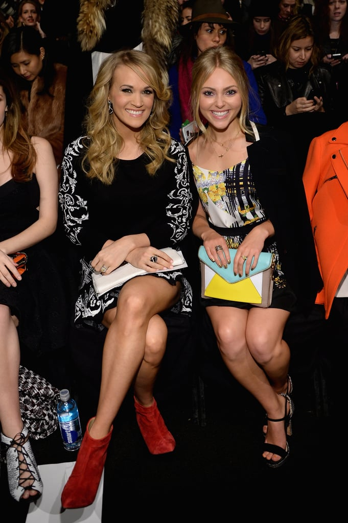 Carrie and AnnaSophia stuck up a conversation during the show.
